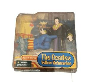 The Beatles 2004 McFarlane Yellow Submarine John with Glove and Love Base NEW