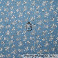 BonEful Fabric FQ Cotton Quilt Blue Yellow Star Circus Diamond Baby Boy Nursery