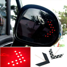 2 Pcs Auto SUV Side Rearview Mirror Arrow 14SMD Red LED Turn Signal Lights Lamp