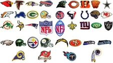 NFL, National Football league team logo patches. Embroidered iron-on patch.