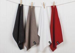 NEW Ladelle Microfibre Tea Towel Drying Glass Cloth Lint Streak Free - 5 Colours