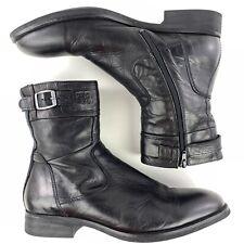G-Star Raw Pilot Ardian Men's 11 EU 44 Leather Military Boots Black