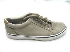 Sperry Top-Sider Striper LTT taupe mens beige brown tennis shoes 10.5M STS10858