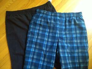 2 Pair NWT, Croft & Barrow Men's Fleece Sleep Lounge Pajama PJ Pants Size XL