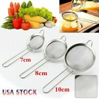 3 size Kitchen Stainless Steel Fine Mesh Strainer, Colander Sieve Sifters US