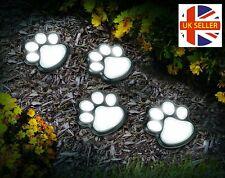 Globrite 4 Pack Paw Animal Print Lights Garden Outdoor LED Solar Powered
