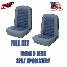 Front and Rear Seat Upholstery Blue Vinyl for 1966 Ford Mustang by TMI, USA