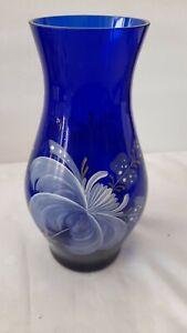 Wunderschöne Vase Ilmkristall Emailmalerei