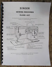 Singer 457 Sewing Machine Service Repair Adjusters Manual Book