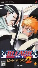 Used PSP Bleach Heat the Soul 2  SONY PLAYSTATION JAPAN IMPORT