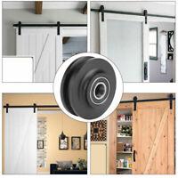 Sliding Barn Door Wheel Closet Hardware Roller Cabinet Super Pulley Window F9X8