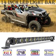 14 inch 6D Reflector LED Light Bar 72W Super Bright for Can-Am Polaris UTV ATV