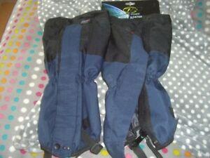 Highlander Mountain Gaiters, Blue, Never used, XTP Fabric