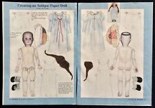 Creating an Antique Paper Doll Paper Doll by Mary Ann Spander , Mag. Pd. 2002