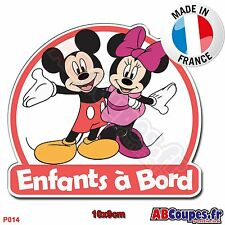 Sticker autocollant Enfants à Bord - Mickey Minnie Bébé Voiture Auto - P014