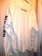 Anvil Knitwear White Soccer Female Athlete Long Sleeve Heavy 100% Cotton Top XL