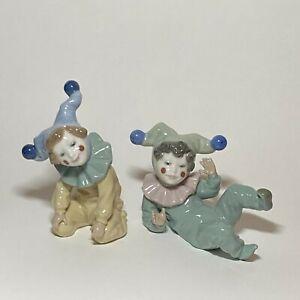 NAO Lladro Porcelain Clown Pair - Joy and Jangles