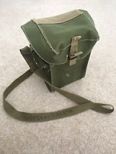 Vintage WWII Gas Mask Canvas Bag Dated 1940s New Condition Wartime Male Female.