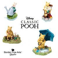 Classic Winnie the Pooh Disney Range - Border Fine Arts Studio Figures & Frames