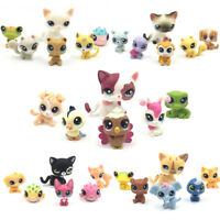 6Pcs Littlest Pet Shop cats LPS toys 1 cat +5 mini pets surprise girls gifts