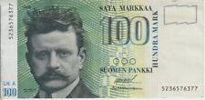 Finland banknote P119 100 Markkaa 1986 Litt A, VF, WE COMBINE