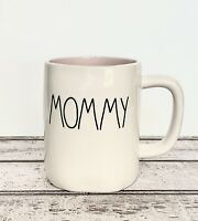 Rae Dunn 'MOMMY' White with Pink Inside Ceramic Mug. LL Farmhouse By Magenta.