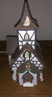 NICE Dickens Keepsake Porcelain Lighted House Church Vintage Village Parish 1994
