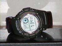 Pre-Owned Casio Green & Black DWX--112 Glide G Shock Sport Digital Watch
