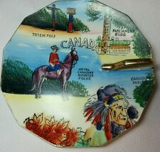 Canada L'Amour China Handpainted Souvenir Plate with Handle