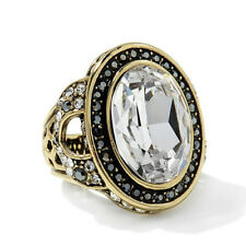 Heidi Daus Clear Signature Accent Crystal Ring Size 5 HSN Sold Out!