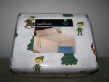Cuddle Duds Elves Twin Sheet Set Heavyweight Flannel Live In Layers