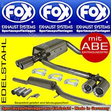 FOX ANLAGE AUSPUFF Duplex Audi A3 Quattro 8L 1,8l T 2x76 R/L