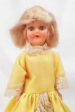 Vintage Atc Doll Yellow Gown Blonde Mohair Wig Plastic 1960s Nice