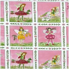 Flora Feen Blumen Panel Baumwolle Quilting Stoff - 60cm x 110cm-NuTex