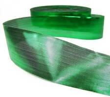 "10 Yards SALE Christmas Shiny Metallic Green Lame Ribbon 1 3/8""W"