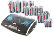 Combo:T9688 Smart Charger + 32 Premium NiMH Rechargeables (12AA/12AAA/4C/4D)