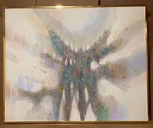 Ferrante Abstract Textural Impasto oil Canvas Hand Signed Painting with Frame