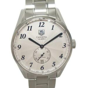 TAG HEUER Carrera Heritage Watch Men's WAS2111.BA0732 Automatic White SS Used