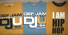 Lot of 3.DEF JAM University T-shirts.XL.Short Sleeve.Cotton.Hip-Hop Genaration
