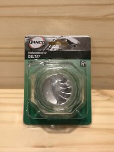 Delta Clear Knob Replacement Handle with Chrome Arrow Button for Tub and Shower