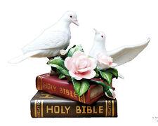 "6.5"" Doves on Bible Statue Holy Spirit Espiritu Santo Christianity Catholic"