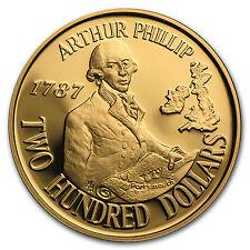 1987 Australia Gold $200 Arthur Phillip BU/Proof