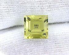 10mm Square Natural Brazilian Lemon Citrine Gem Stone Gemstone B13A112