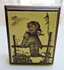 Vintage Switzerland Girl Music Box I'd like to teach the World to sing no work