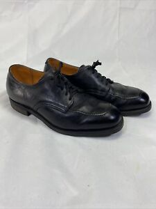 Vtg Red Wing 9400 Black Leather Dress Work Shoes Mens Sz 8 E Wide USA Made