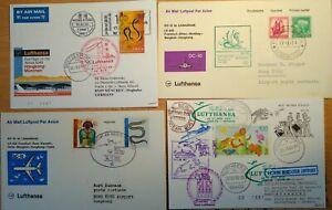4 First Flight Covers - FFC - Topic  Snakes - Schlangen - incl. Hong Kong India