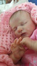 RARE SOLD OUT bébé reborn poupée Scarlett par Bonnie Brown COA Micro enraciné cheveux