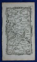 Rare antique road map NORTHUMBERLAND, ALNWICK, Mostyn Armstrong, 1776
