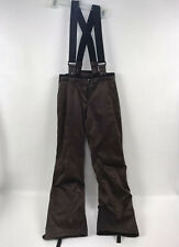 SPYDER XTL 10000 Womens Size 4 Ski Snow Bibs Overalls Suspender Pants Brown