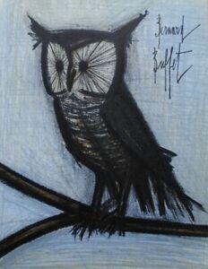 BUFFET Bernard : le petit Hibou - LITHOGRAPHIE originale signée, MOURLOT, 1967